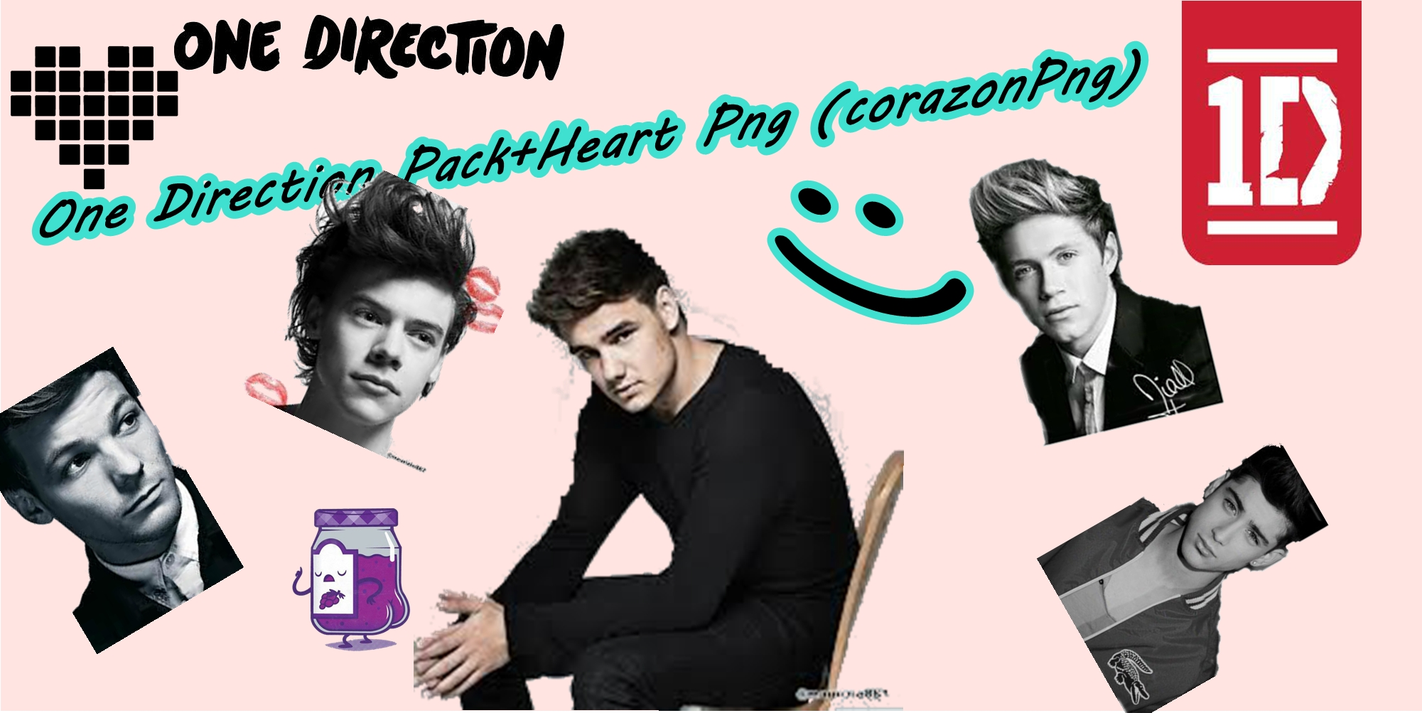 one direction logo corazon png by kinesdemaslow on