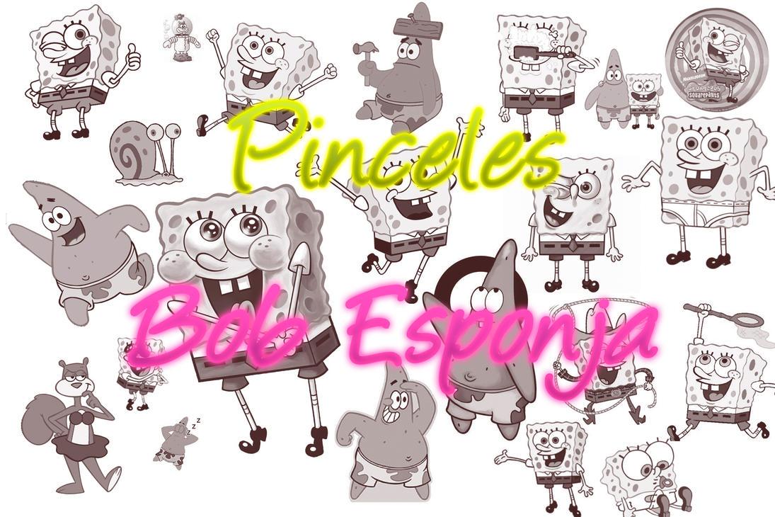 Pinceles de Bob esponja by ViicoLaRubiiaConvers