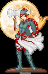 Moon Warrior by Medox-Pixelated