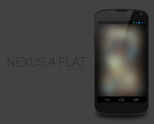 Nexus 4 Flat .PSD by R3CONN3R