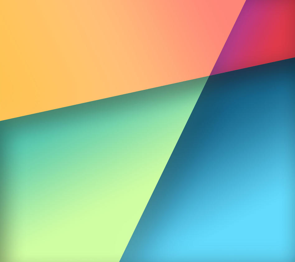 Colors: Nexus 7 Stock Wallpaper In Google Play Colors By R3CONN3R