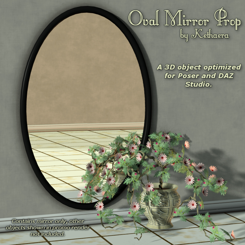 Oval Mirror Prop