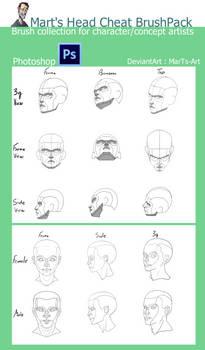 Photoshop Cheat Brush Pack : Heads
