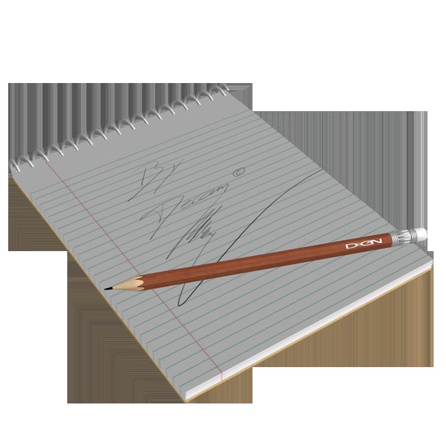 Pen And Note Block by DecanAndersen