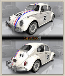 Free 3D Add-On For Volkswagen Beetle 1963: Herbie
