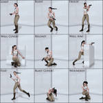 Nine Flawless Action Poses For Stalker Girl