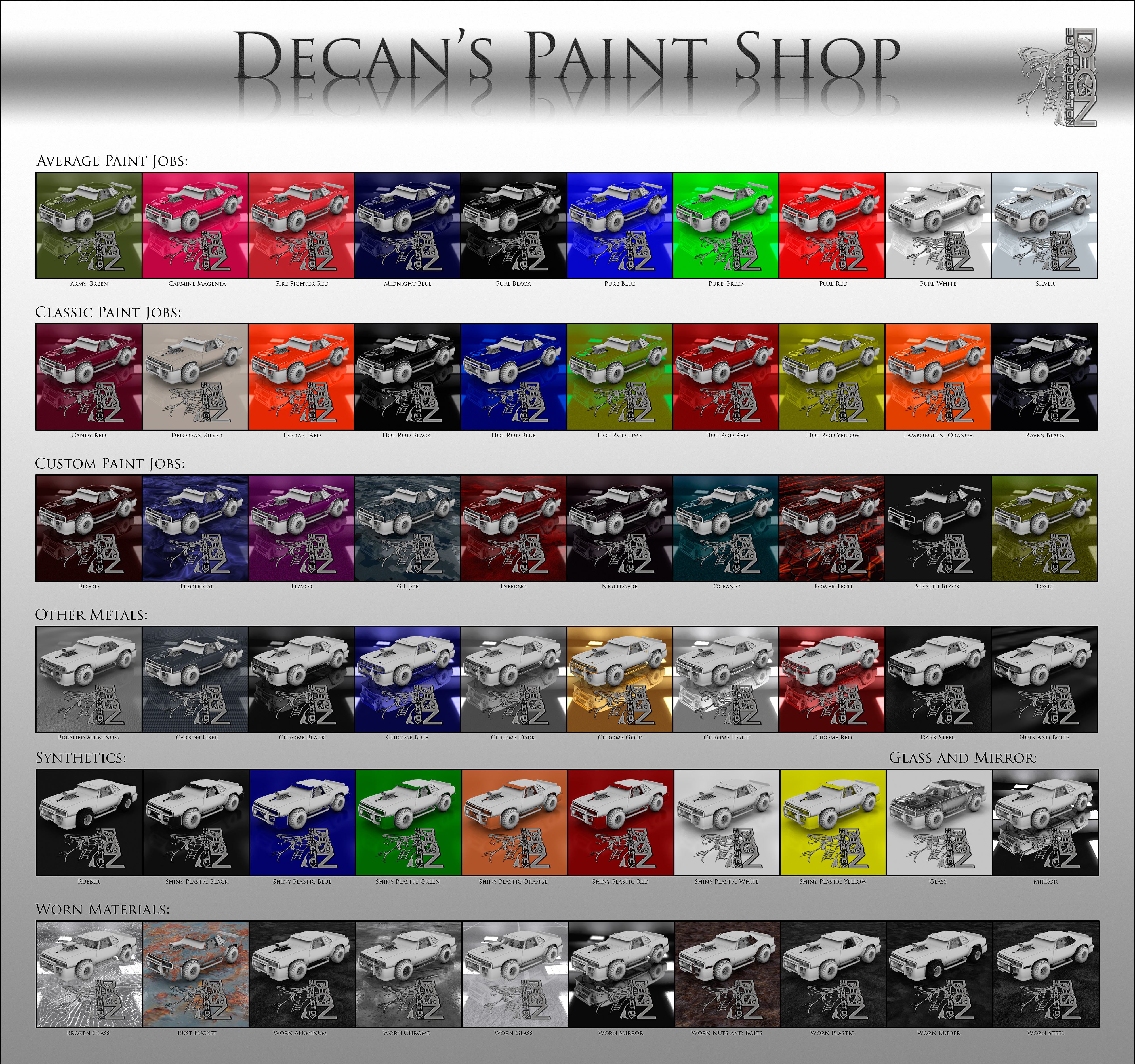 Free DAZ Shaders: Decan's Paint Shop