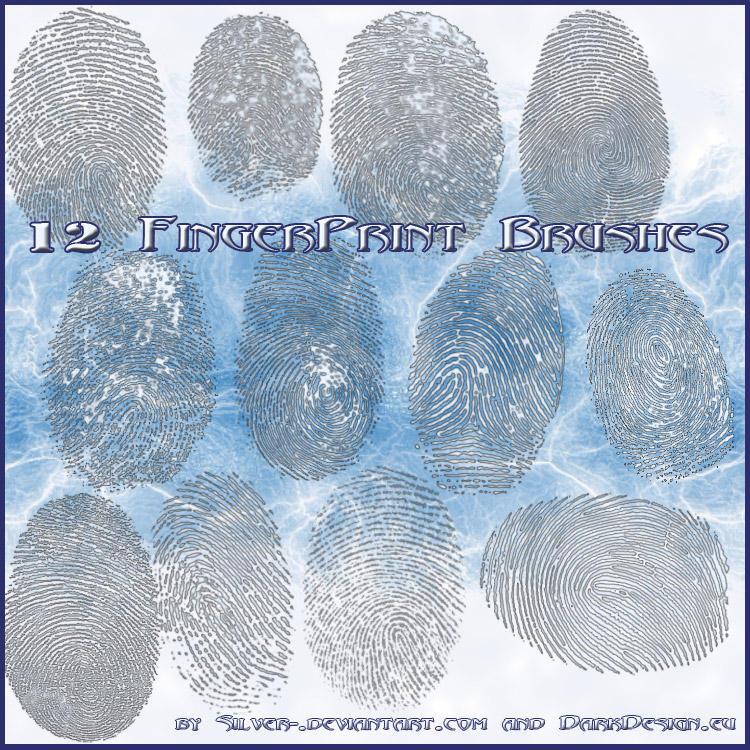 Finger Print Brushes by silver-