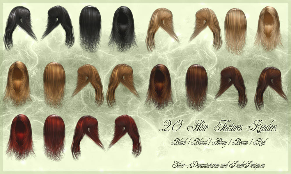 Hair Texture Renders 01 by silver-