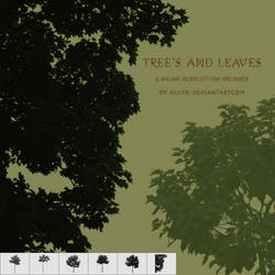 Tree's and Leaves Brushes