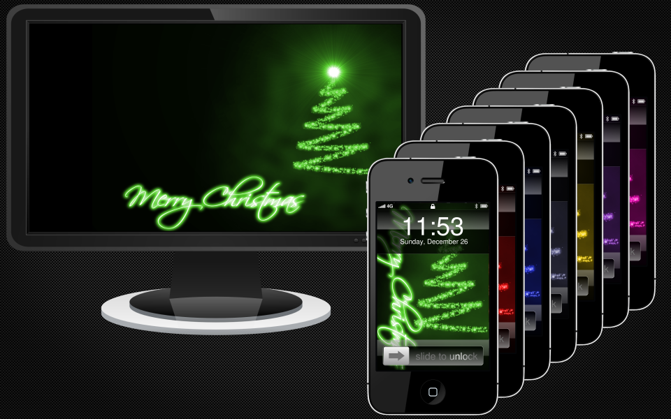 Merry Christmas Wallpaper Pack by DigitalDistinction