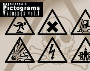 Pictogram warnings - Vol.1 by bashcorpo