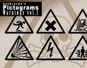 Pictogram warnings - Vol.1 by bashcorpo