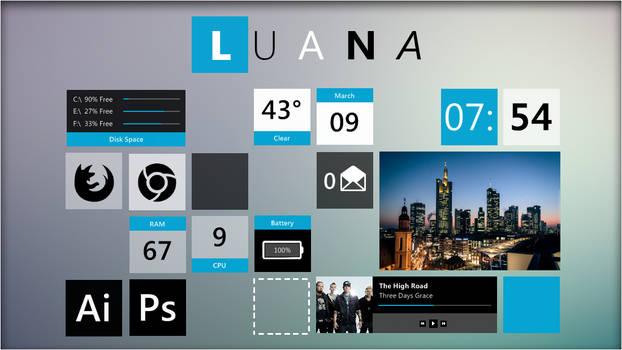 Luana 2.0 Rainmeter Suite.