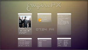 EmpirePX 1.0 Suite. [Rainmeter Skin]