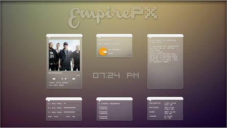 EmpirePX 1.0 Suite. [Rainmeter Skin]