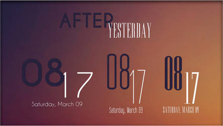 After Yesterday. [Rainmeter Skin] by jlynnxx