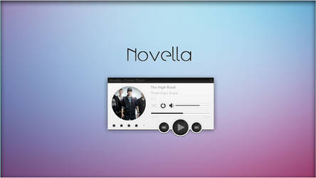 Novella 1.1 Music Player. [Rainmeter Skin] by jlynnxx