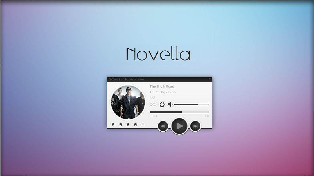 Novella 1.1 Music Player. [Rainmeter Skin] by jlynnxx