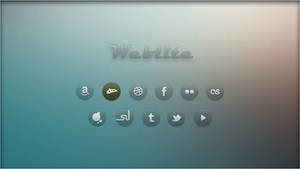Weblite. Browser Shortcuts [Rainmeter Skin]
