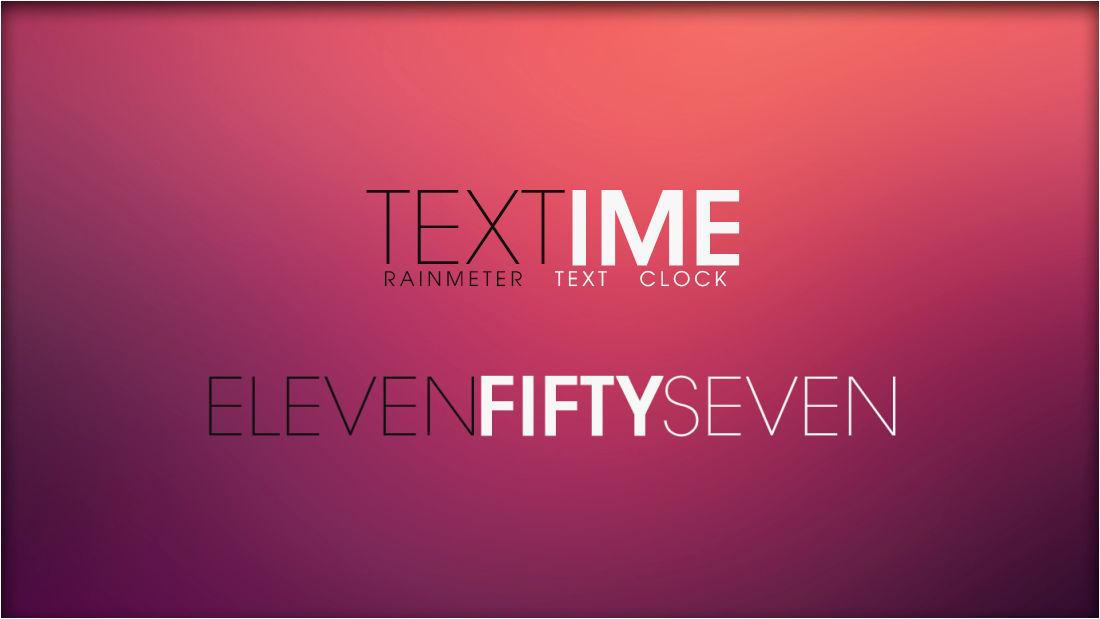 Textime 1.1 [Rainmeter Skin]