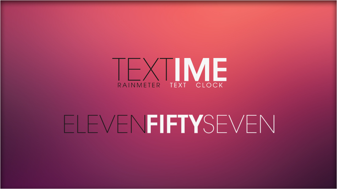 Textime 1.1 [Rainmeter Skin] by jlynnxx