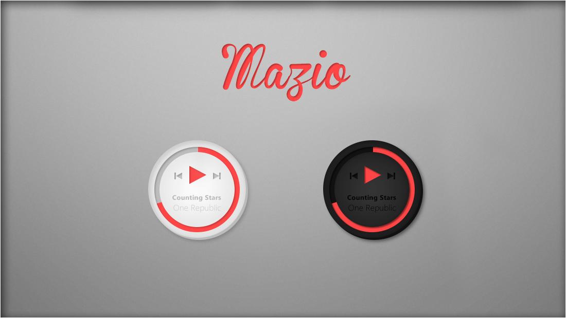 Mazio Music Player  [Rainmeter Skin] by jlynnxx on DeviantArt