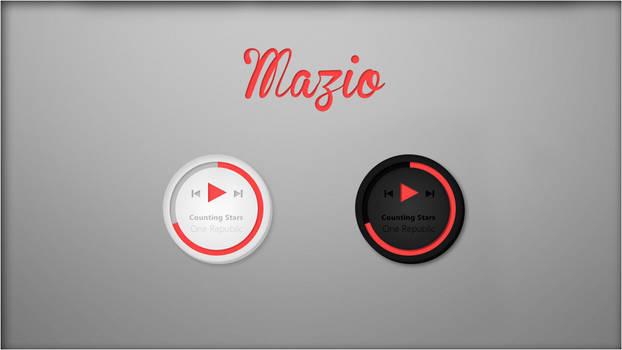 Mazio Music Player. [Rainmeter Skin]
