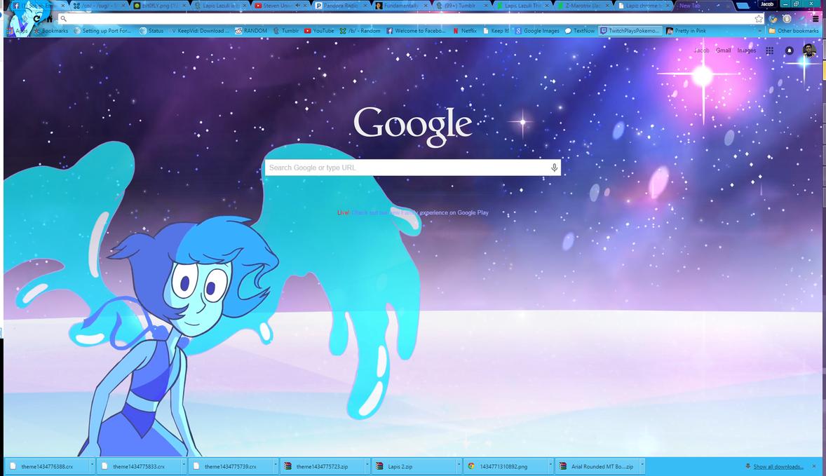 Google theme universe - Lapis Lazuli Theme 2 By Z Marotrix