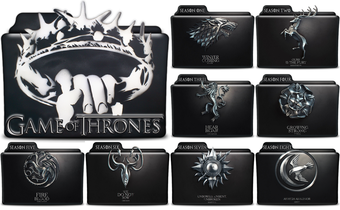 Game Of Thrones Folders In PNG And ICO By Vikkipoe24 On