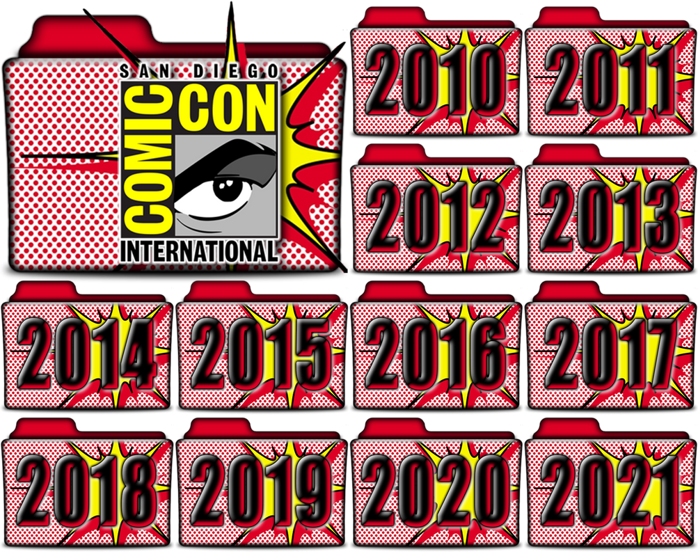 SDCC Comic Con Folder Icons In PNG by vikkipoe24 on DeviantArt