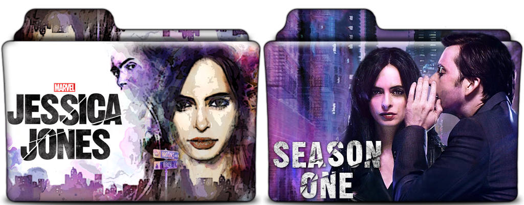 Jessica Jones TV Show Folders In PNG And ICO By Vikkipoe24