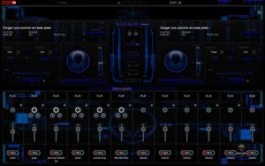 New Skin Alien Blue 2012 For Virtual DJ 7 by THERECORDBLACK01