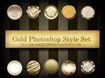 Gold Photoshop Style Set
