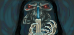 Reaper with candle