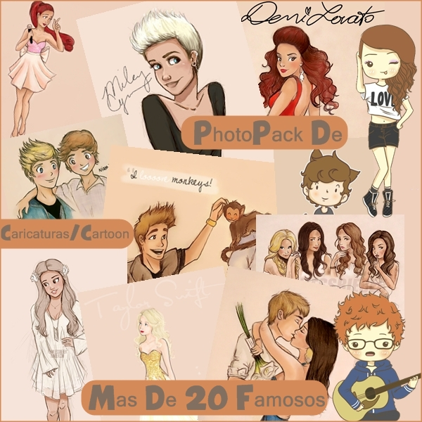 PhotoPack Caricaturas/Cartoon (Diversos Famosos) by MartiSmiler