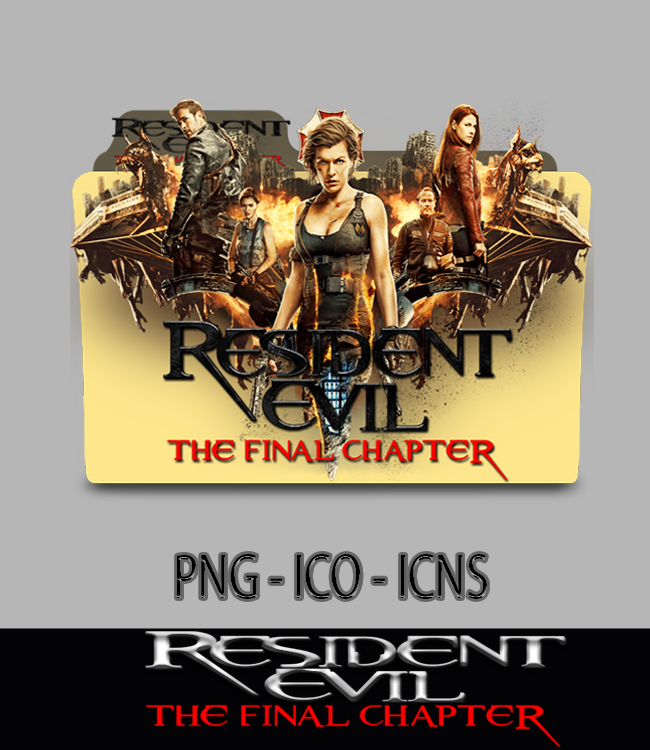 Resident Evil The Final Chapter (2017) Folder Icon by