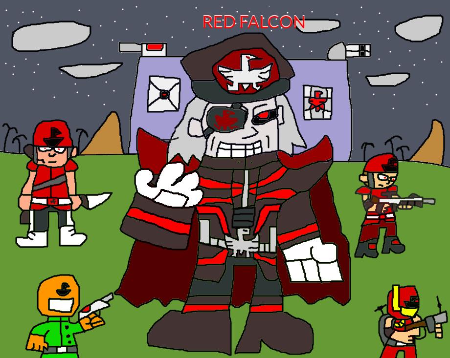 Vile Red Falcon (CONTRA) by illcitvirus115