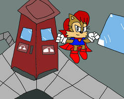 Phone Booth Action (Sonic The Hedgehog)