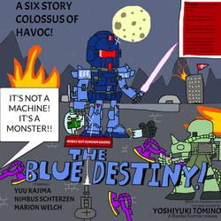 Blue Destiny Throwback Poster (Gundam)