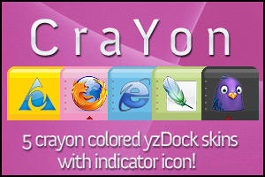Crayon - Five yzDock Skins by comotized