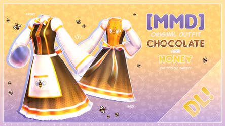 [MMD] Chocolate and Honey - dress DL!
