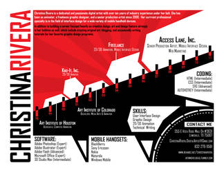 Black and Red Resume