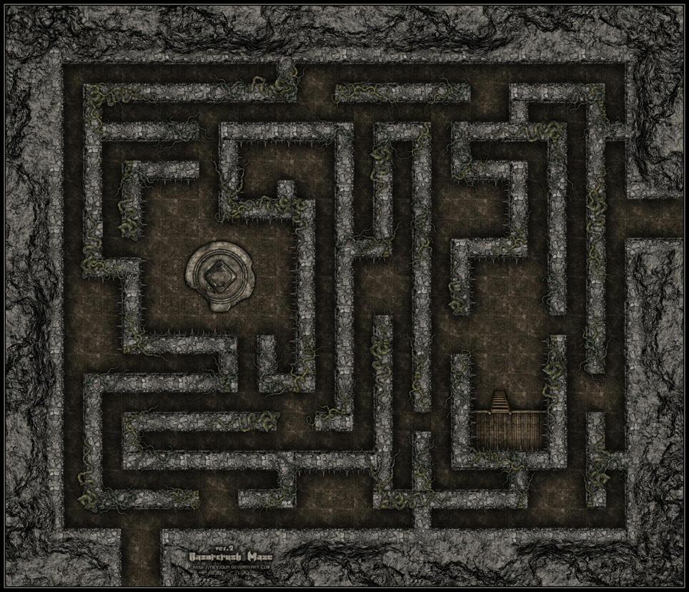 Razorcrush Maze ver.2 by Neyjour on DeviantArt