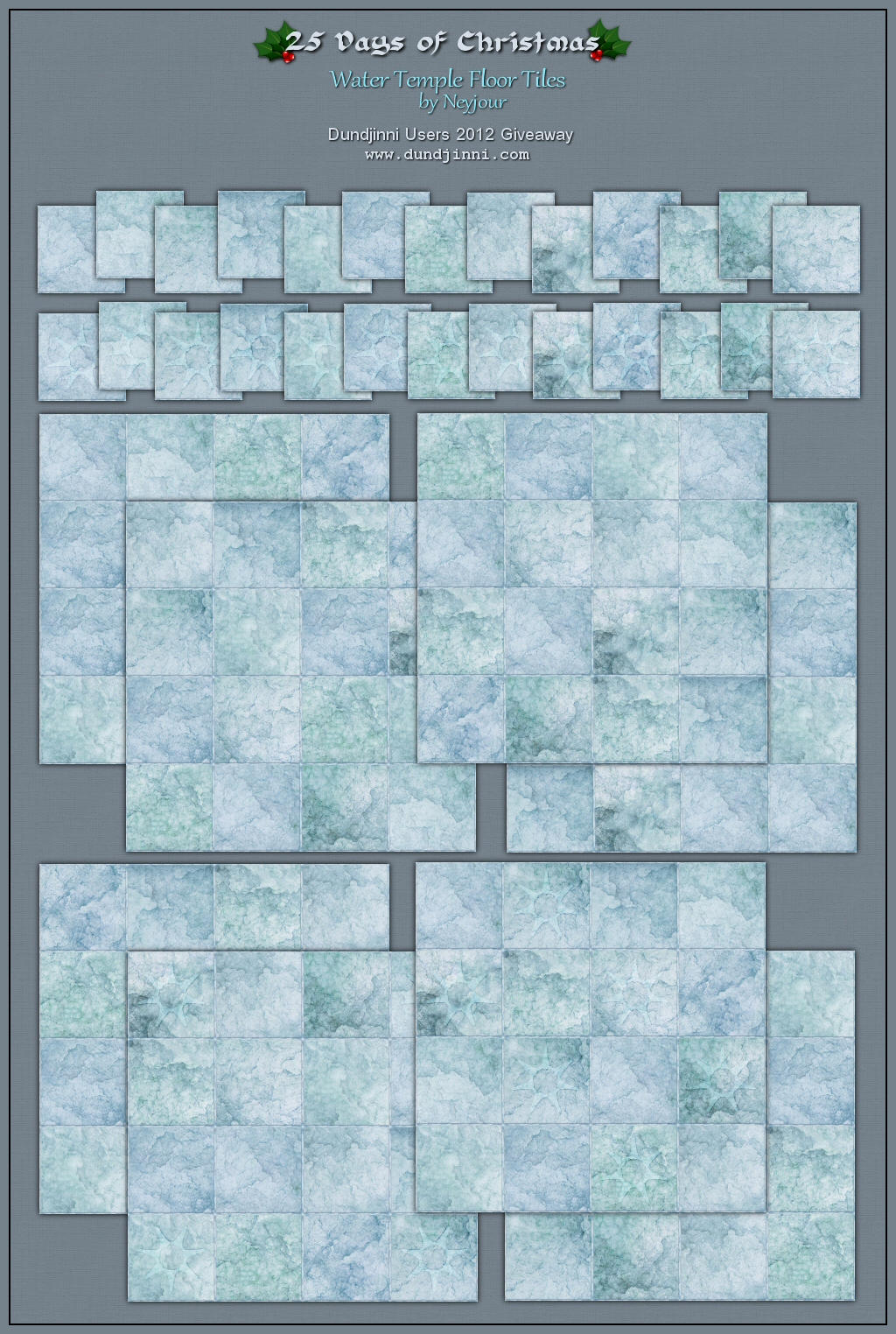 Water Temple Floor Tiles by Neyjour