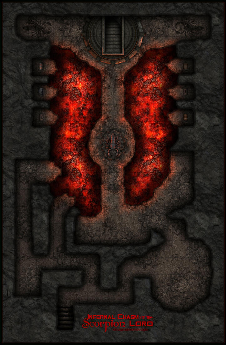Infernal Chasm Of The Scorpion Lord By Neyjour On DeviantArt