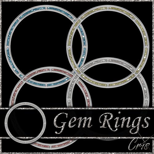 Silver Gem Rings