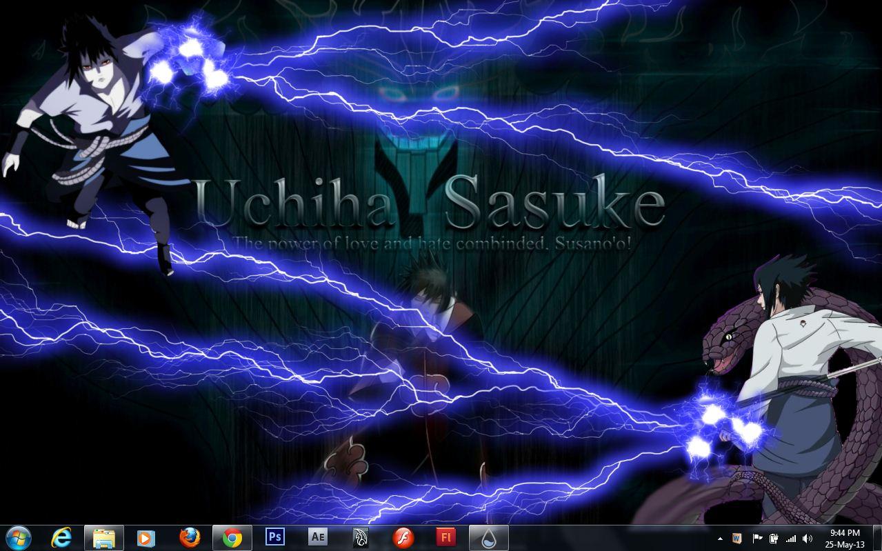 sasuke chidori by mchandrahasreddy