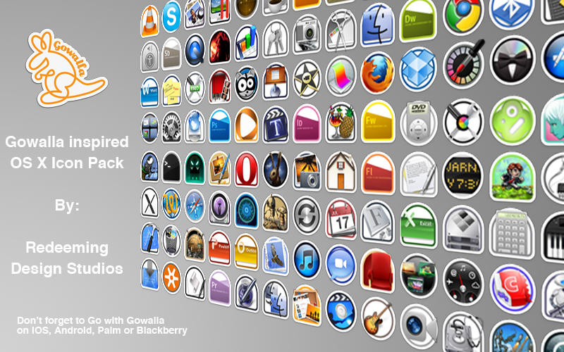 Gowalla OS X Icon Pack by RedeemingDesign