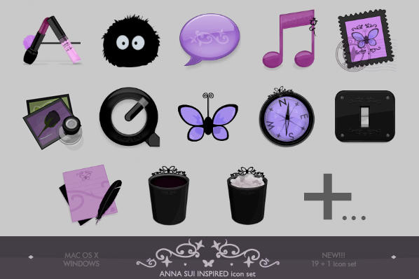 Anna Sui inspired iconset PLUS by lilithsoul on DeviantArt